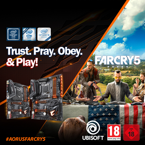 Buy selected AORUS Gaming motherboards and get Far Cry 5 PC game key for FREE*.